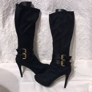 XOXO tall dark navy boots